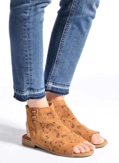 Sandales et nu-pieds Coolway Topaz Marron vue bas / vue portée sac
