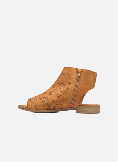 Sandales et nu-pieds Coolway Topaz Marron vue face