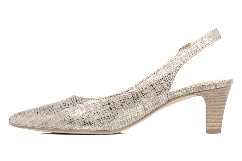 Zapatos de tacón Gabor Napa Plateado vista de frente