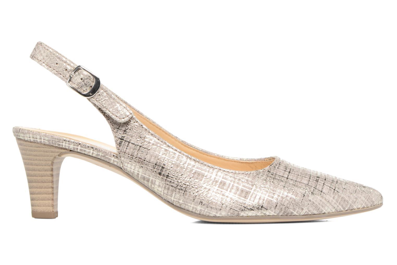 Zapatos de tacón Gabor Napa Plateado vistra trasera