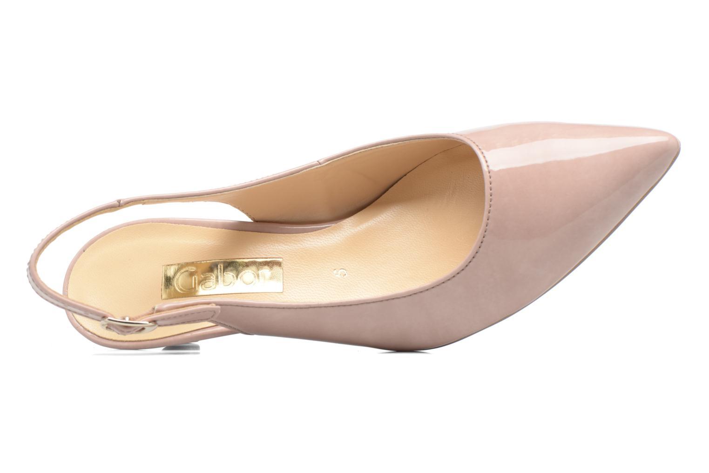 Zapatos de tacón Gabor Napa Beige vista lateral izquierda