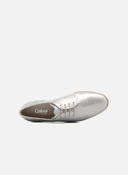 Chaussures à lacets Gabor Napoli Argent vue gauche