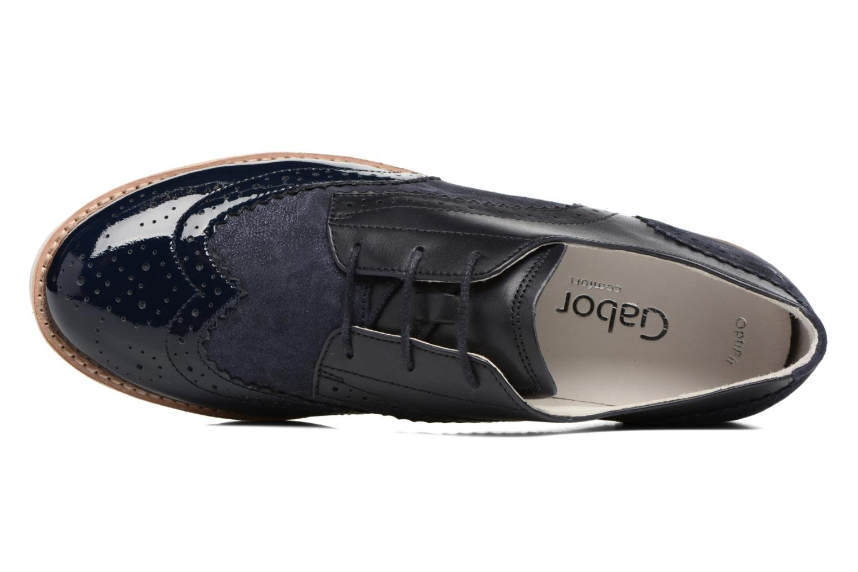 Zapatos con cordones Gabor Florenz 3 Azul vista lateral izquierda