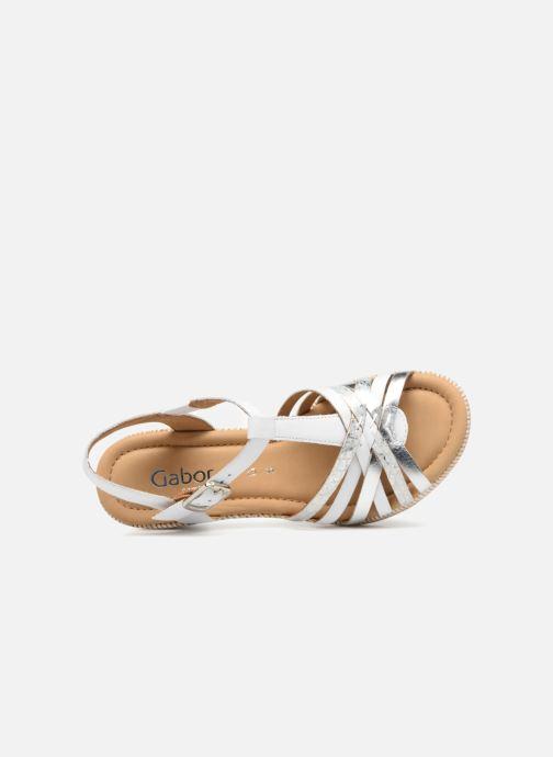 Sandales et nu-pieds Gabor St Tropez 3 Blanc vue gauche