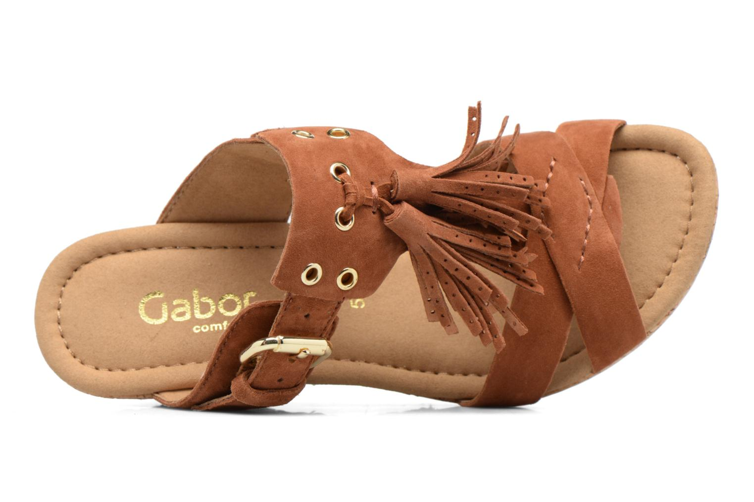 Mules & clogs Gabor Milano 3 Brown view from the left