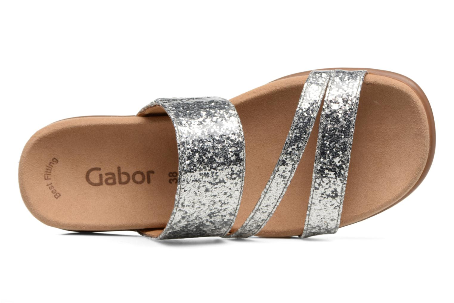 Mules & clogs Gabor Salerna Silver view from the left