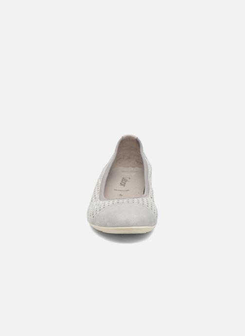 Ballerines Gabor Linda Gris vue portées chaussures