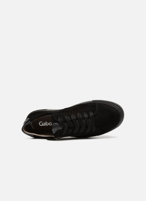 Baskets Gabor Foggia Noir vue gauche