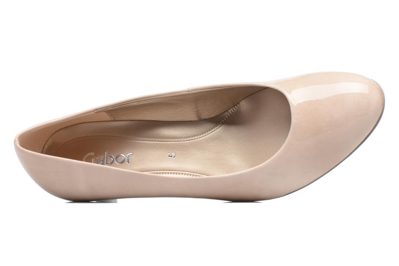 Zapatos de tacón Gabor Andria Beige vista lateral izquierda