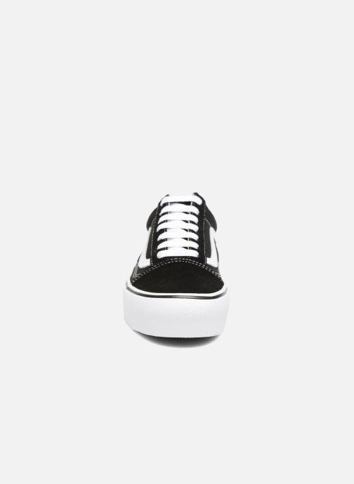 Sneaker Vans Old Skool Platform schwarz schuhe getragen