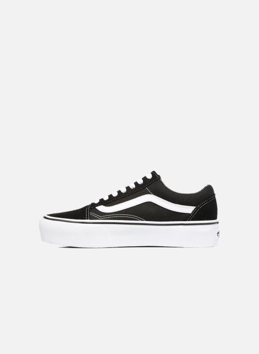 Sneaker Vans Old Skool Platform schwarz ansicht von vorne