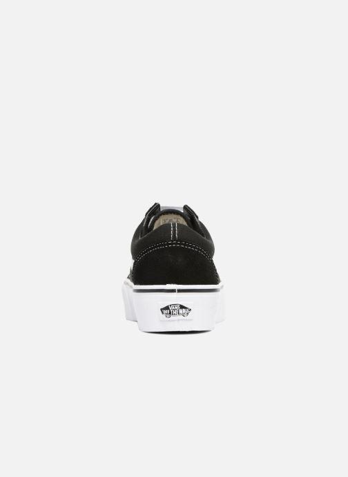 Sneaker Vans Old Skool Platform schwarz ansicht von rechts
