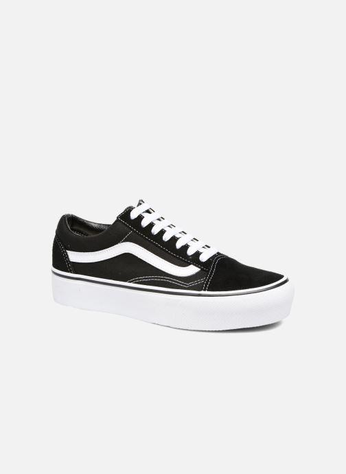 Sneaker Vans Old Skool Platform schwarz detaillierte ansicht/modell