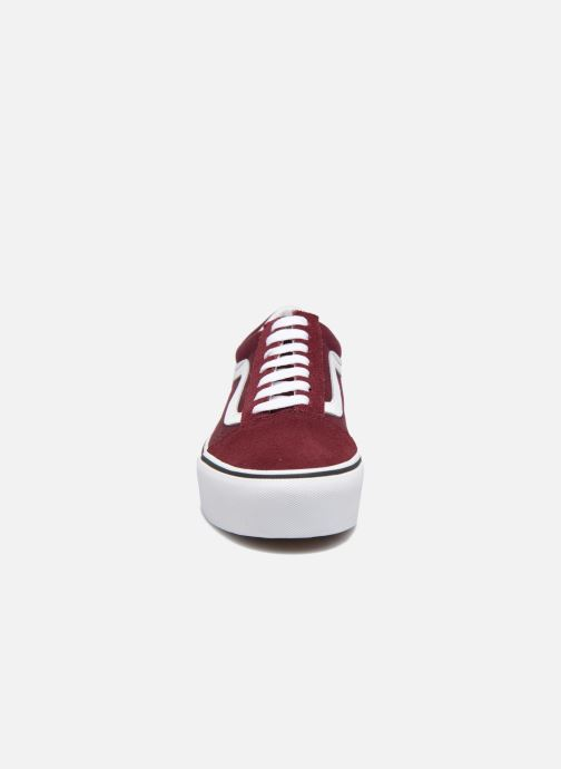 vans old skool rouge bordeaux femme