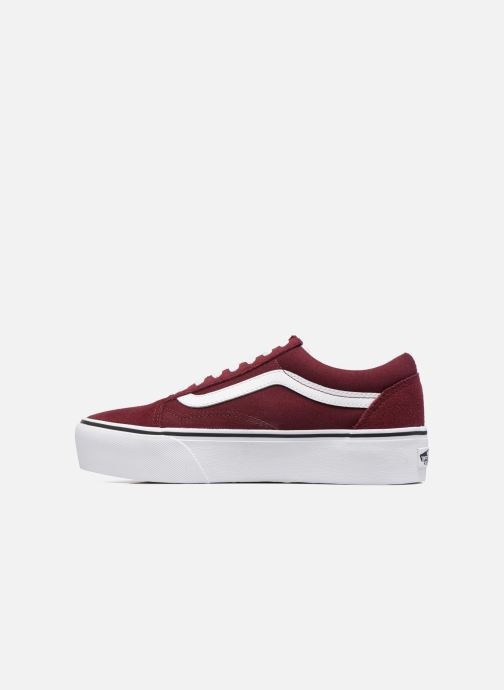 Baskets Vans Old Skool Platform Bordeaux vue face