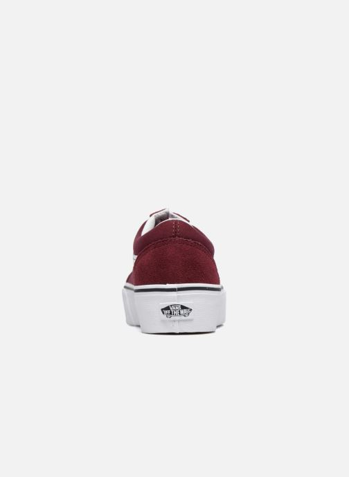 Trainers Vans Old Skool Platform Burgundy view from the right