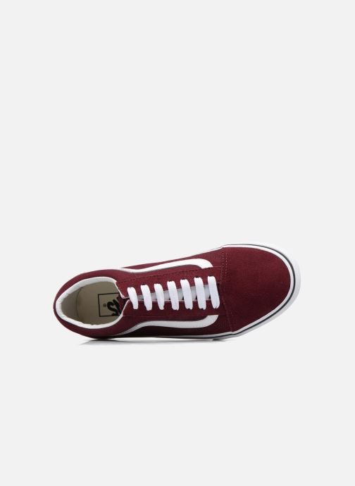 Baskets Vans Old Skool Platform Bordeaux vue gauche