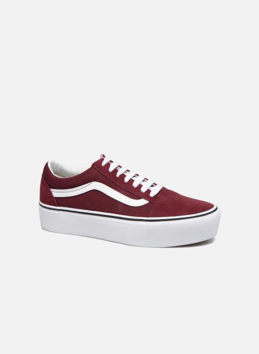 Baskets Vans Old Skool Platform Bordeaux vue détail/paire