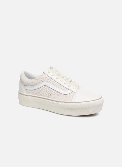 Vans Old Skool Platform Trainers in White at Sarenza.eu (340974)