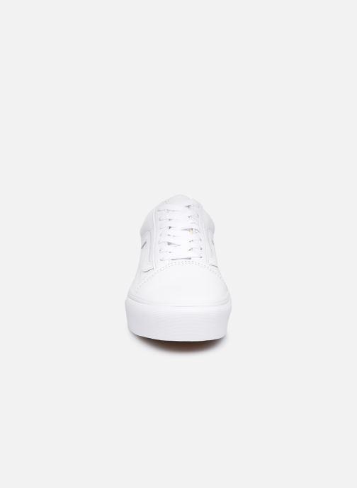 Baskets Vans Old Skool Platform Blanc vue portées chaussures