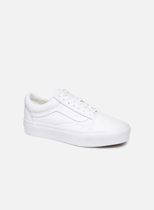 Vans Old Skool Platform (Blanc) - Baskets chez Sarenza (399978)
