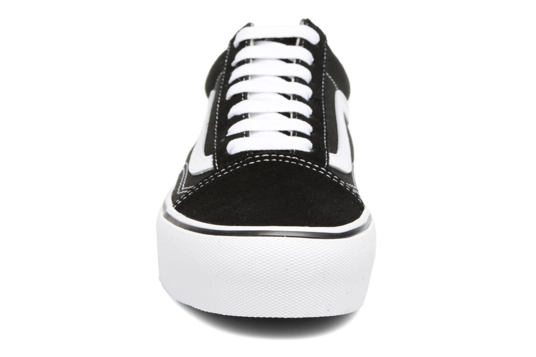 Baskets Vans Old Skool Platform Noir vue portées chaussures