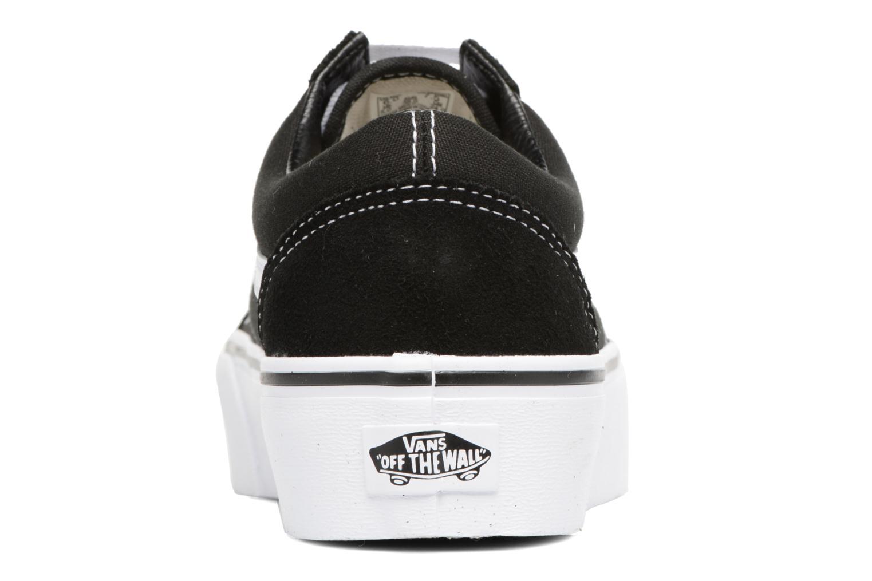 Baskets Vans Old Skool Platform Noir vue droite