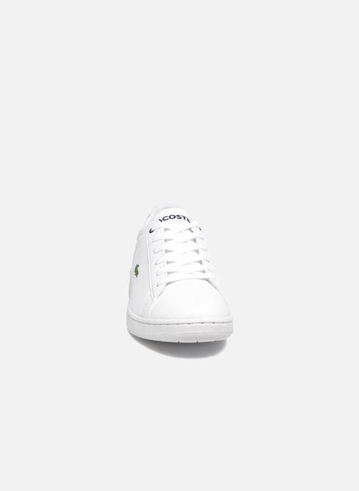 Sneaker Lacoste Carnaby Evo BL 1 Kids weiß schuhe getragen