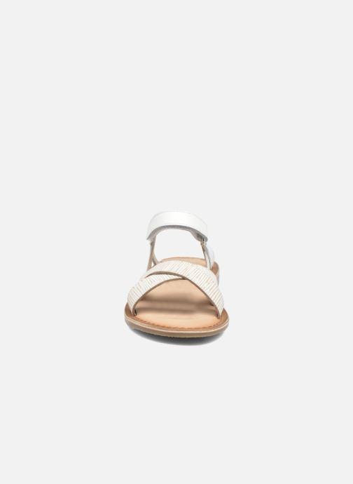 Sandales et nu-pieds Aster Canissa Blanc vue portées chaussures