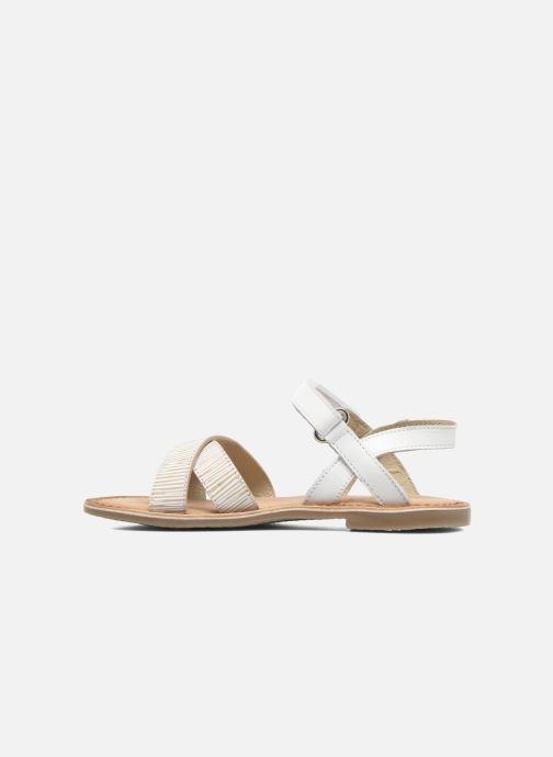 Sandales et nu-pieds Aster Canissa Blanc vue face