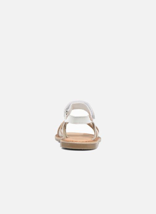 Sandales et nu-pieds Aster Canissa Blanc vue droite