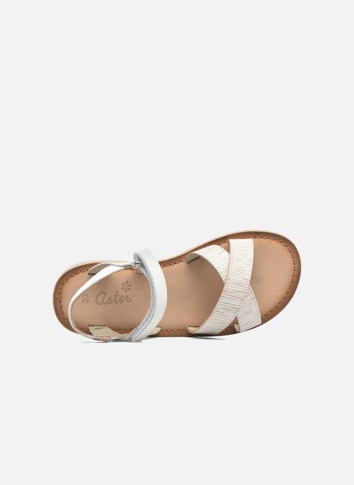 Sandales et nu-pieds Aster Canissa Blanc vue gauche