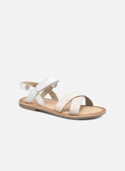Sandales et nu-pieds Aster Canissa Blanc vue détail/paire