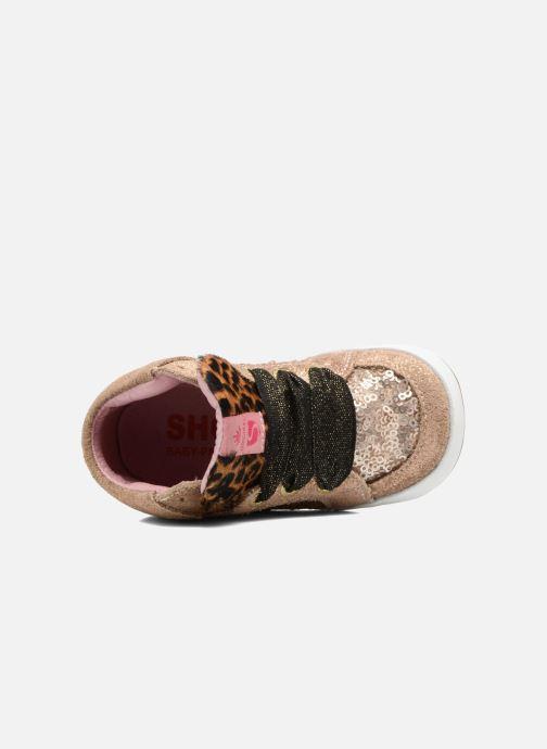 Baskets Shoesme Suzette Or et bronze vue gauche