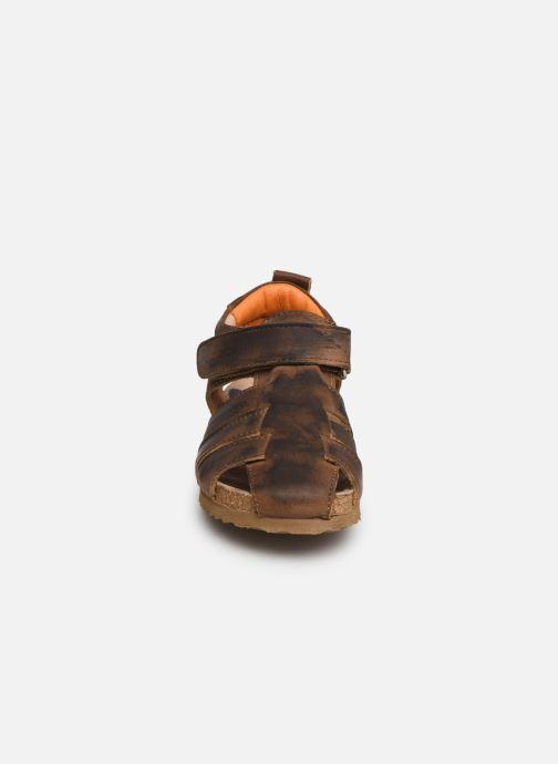 Sandalen Shoesme Stuart braun schuhe getragen