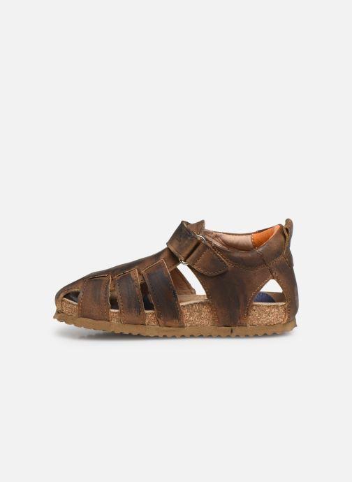 Sandales et nu-pieds Shoesme Stuart Marron vue face