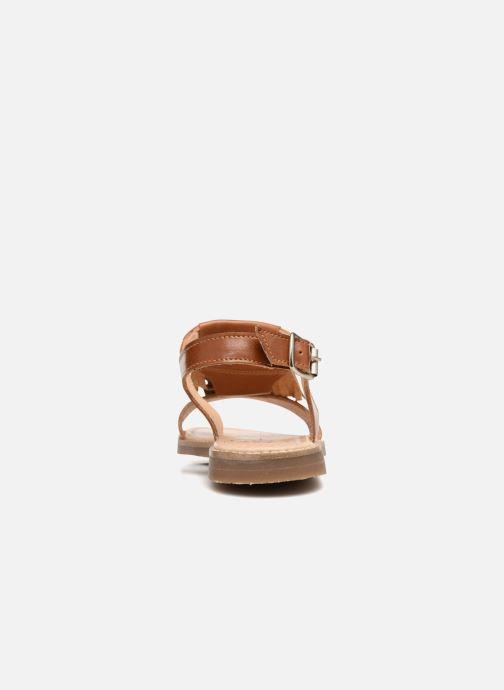 Sandales et nu-pieds Yep Melody (1371) Marron vue droite