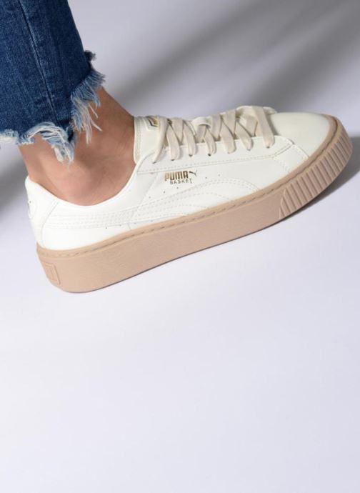Sneakers Puma Wns Basket Platform Patent Rød se forneden