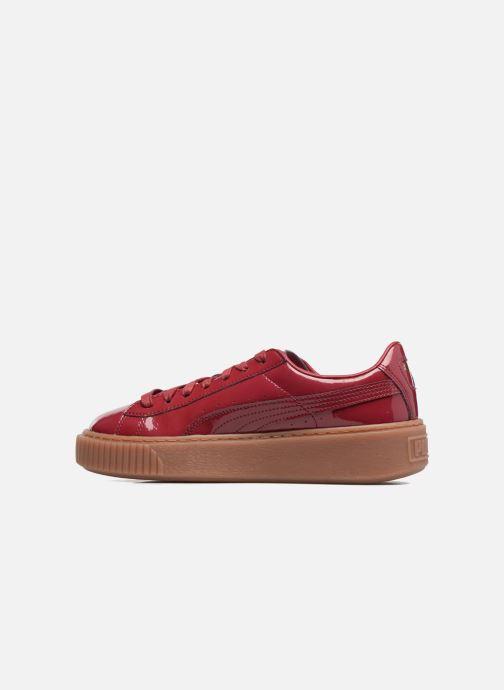 Sneakers Puma Wns Basket Platform Patent Rød se forfra