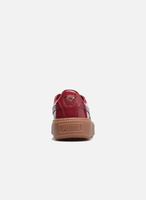Sneakers Puma Wns Basket Platform Patent Rød Se fra højre