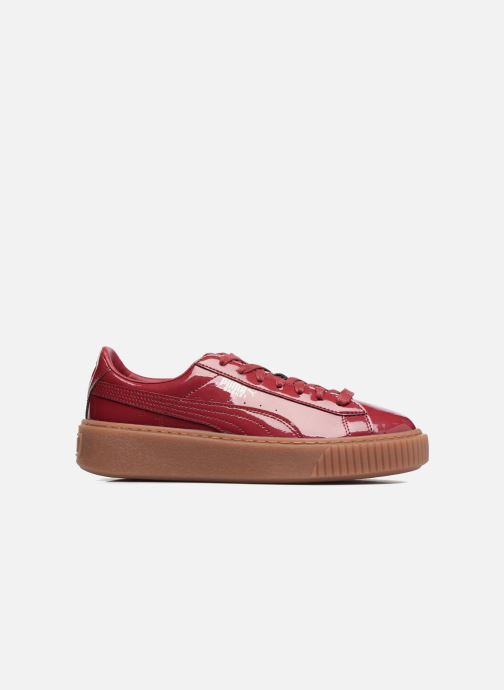 Sneakers Puma Wns Basket Platform Patent Rød se bagfra