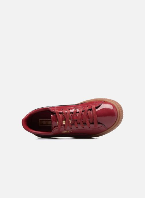 Sneakers Puma Wns Basket Platform Patent Rød se fra venstre