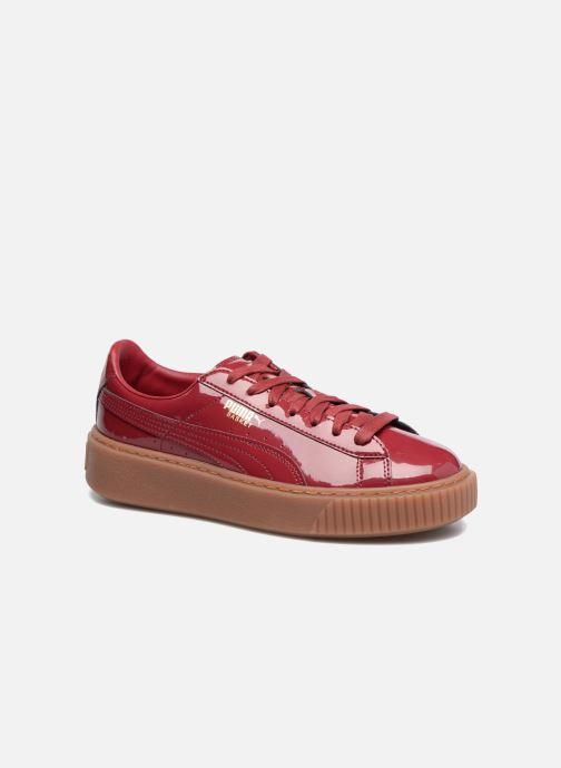 Sneakers Puma Wns Basket Platform Patent Rød detaljeret billede af skoene