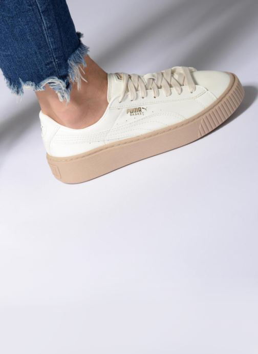 Sneakers Puma Wns Basket Platform Patent Azzurro immagine dal basso
