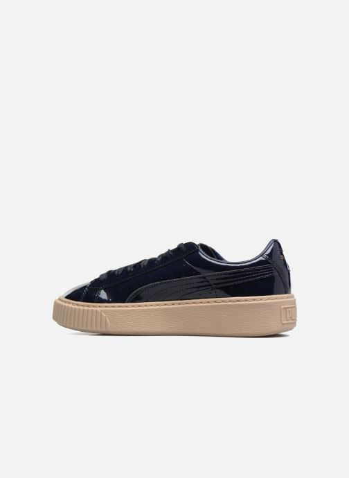 Sneakers Puma Wns Basket Platform Patent Azzurro immagine frontale