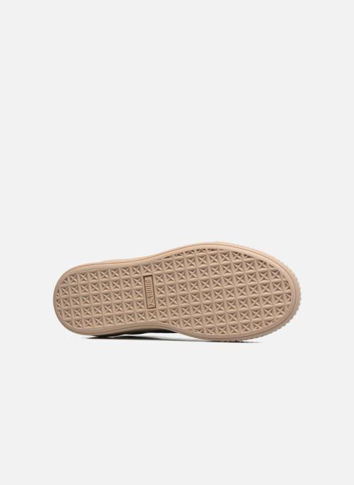 Sneakers Puma Wns Basket Platform Patent Azzurro immagine dall'alto