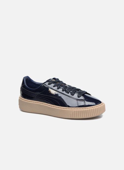 Sneakers Puma Wns Basket Platform Patent Azzurro vedi dettaglio/paio
