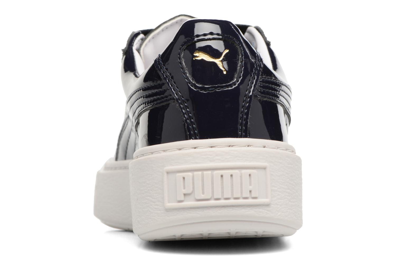 Baskets Puma Wns Basket Platform Patent Bleu vue droite