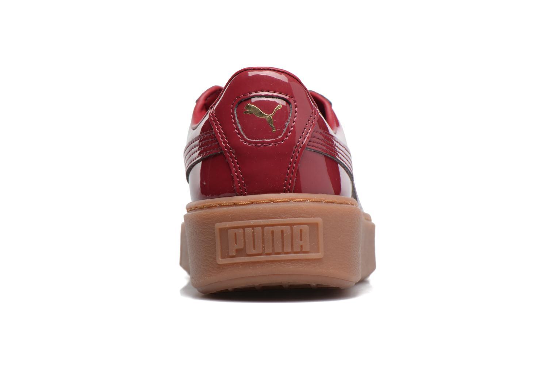 Baskets Puma Wns Basket Platform Patent Rouge vue droite