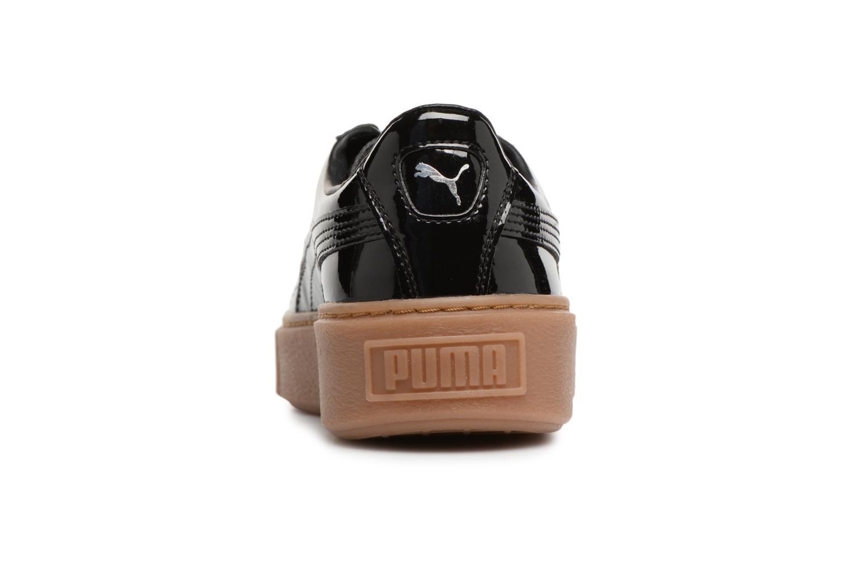 Baskets Puma Wns Basket Platform Patent Noir vue droite